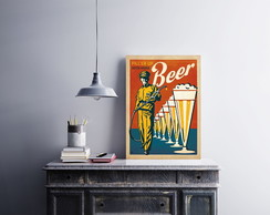"Placa decorativa MDF ""Beer"""