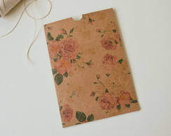 Envelope Estampado Kraft Floral