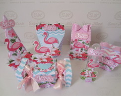 Kit Festa Personalizada FLAMINGOS