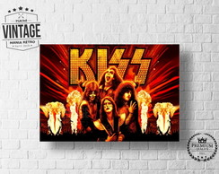 Placa Decorativa Bandas Kiss