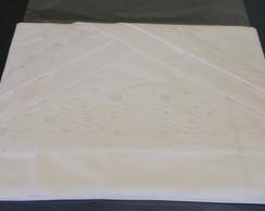 b15c68a85 Roupa de Cama Solteiro 250 fios Bambu branco verde no Elo7
