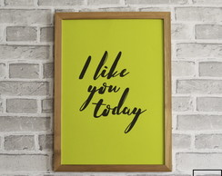 Poster A4 - Color Block I Like You Today