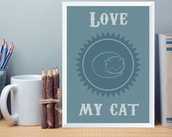 Quadro Love Cat