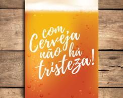 Placa Decorativa Mdf Frase Cerveja Bebidas 20x30 Cm No Elo7
