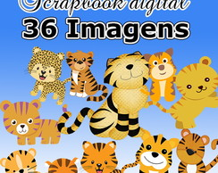 Kit Scrapbook Digital Tigre- Envio Rápido