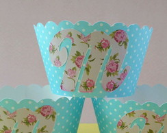 Cupcake Shabby Chic [kit c/ 10 wrappers florais]