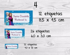 Etiqueta escolar frozen kit
