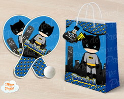 Kit Raquete personalizada batman baby cute