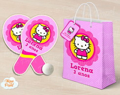 Kit Raquete personalizada hello kitty
