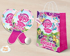 Kit Raquete personalizada my little pony