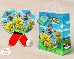 Kit Raquete personalizada pokemon