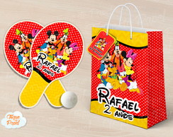 Kit Raquete personalizada turma do mickey