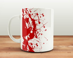 Caneca Resident Evil Umbrella Sangue