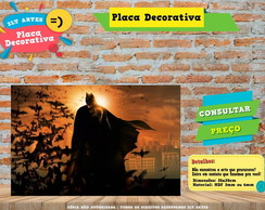 Placa Decorativa - Batman - REF0006