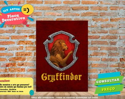 Placa Decorativa - Grifinoria - Harry Potter- REF0036
