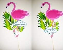 Placa de Selfie Flamingo - Tropical