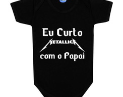 Body de Bebê Rock Banda Metallica Papai