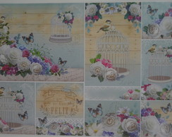 Papel Decoupage Animais PD-926