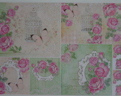Papel Decoupage Animais PD-704