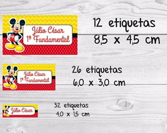 Etiqueta escolar Mickey kit
