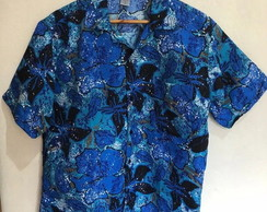 Camisa Masculina Estampada Tropical