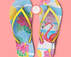 Chinelo Flamingo
