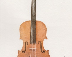 Violino _ aquarela _ original