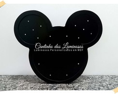 Luminoso Led Mickey Silhueta em MDF