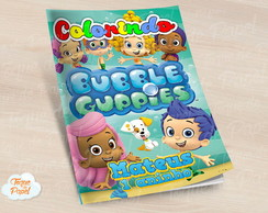 Revista colorir bubble guppies