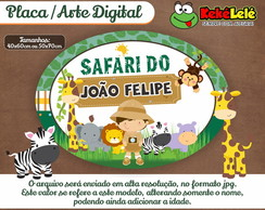 Placa Safari - Arte Digital