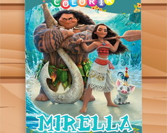 Arte Digital Revista de Colorir Moana