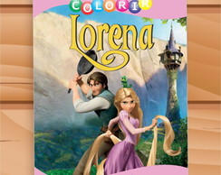 Arte Digital Revista de Colorir Rapunzel