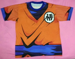 Camiseta uniforme do goku