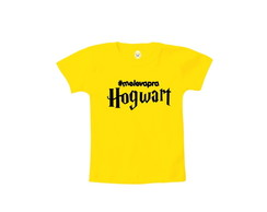 Camiseta INFANTIL OU Body Harry Potter Hogwart Hashtag