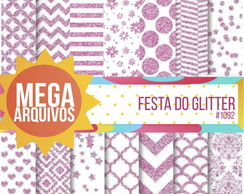 Kit Papel Digital -Festa do Glitter