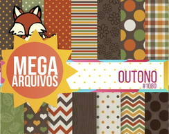 Kit Papel Digital - Outono
