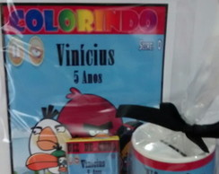 kit para colorir com cofre Angry birds
