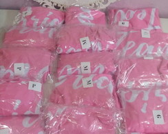 Kit com 16 Bodys personalizado Team Bride Rosa