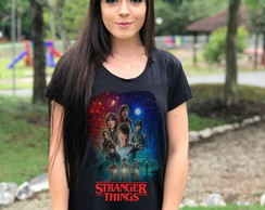 Camiseta Baby look Stranger Things