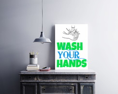 "Placa decorativa MDF ""Whash Your Hands"""