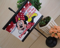 Mini Banner De Mesa Minnie Vermelha