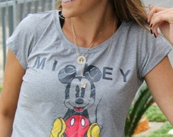 T-Shirt Mickey - Cinza