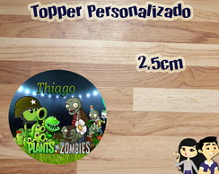 Topper Personalizado Plants Vs Zumbies