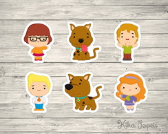 Aplique Scooby Doo Cute 3,5 cm
