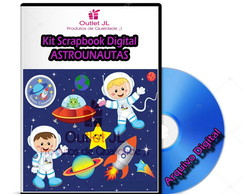 Mega Pack Scrapbook Digital - Astronauta