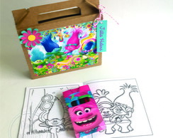 Kit Maleta de Colorir Trolls
