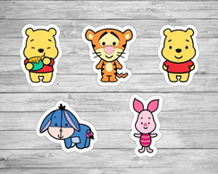 150 Apliques Baby Pooh 3,5 cm Tags Toppers