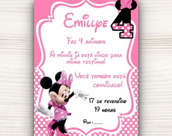 Convite Digital Minnie 2