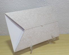 Envelope Renda Bronze Com Strass