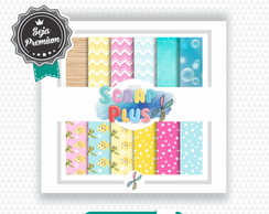 Papel Digital Luxo Scrap Plus - Moana Baby